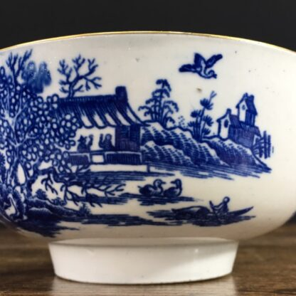 Worcester small punch bowl, 'Argument' pattern, c. 1780-23563