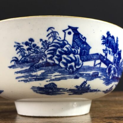 Worcester small punch bowl, 'Argument' pattern, c. 1780-23562