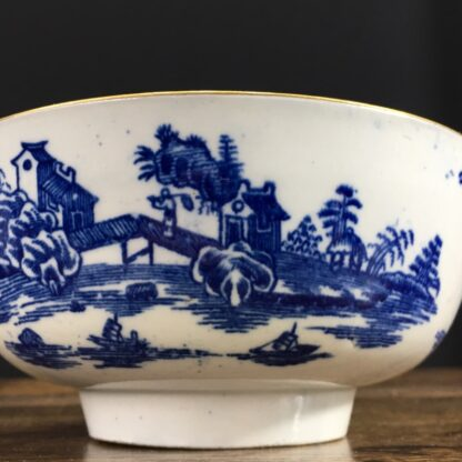 Worcester small punch bowl, 'Argument' pattern, c. 1780-23568