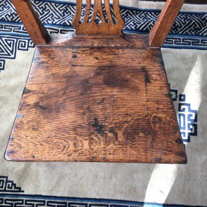 Country Hepplewhite oak chair, c.1800-24836