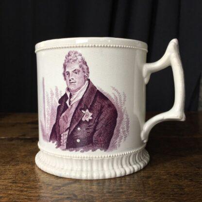 Royal Commemorative mug - William IV & Adelaide - by Goodwin Bridgewood & Harris, c.1830-24770