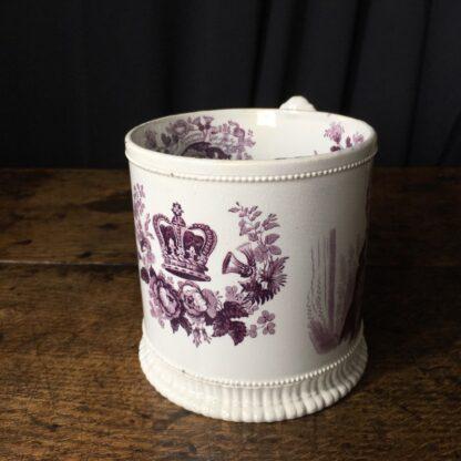 Royal Commemorative mug - William IV & Adelaide - by Goodwin Bridgewood & Harris, c.1830-24765