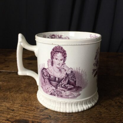 Royal Commemorative mug - William IV & Adelaide - by Goodwin Bridgewood & Harris, c.1830-0