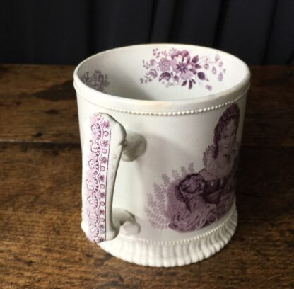 Royal Commemorative mug - William IV & Adelaide - by Goodwin Bridgewood & Harris, c.1830-24769