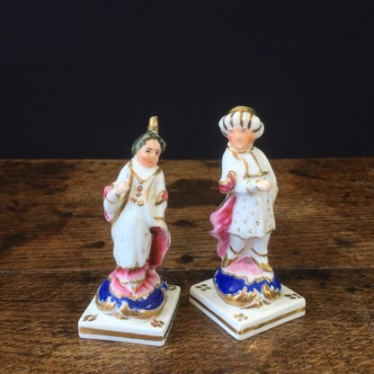Pair of small porcelain Turks, circa 1820 -0