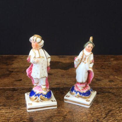 Pair of small porcelain Turks, circa 1820 -23546