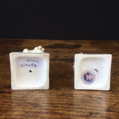 Pair of small porcelain Turks, circa 1820 -23545