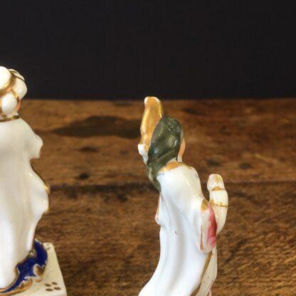 Pair of small porcelain Turks, circa 1820 -23547
