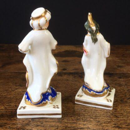 Pair of small porcelain Turks, circa 1820 -23550
