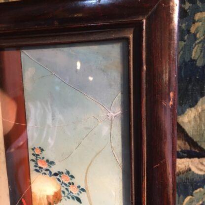 Chinese glass painting, youthful beauty, 19th century-28678