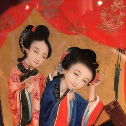 Chinese glass painting, youthful beauty, 19th century-28679
