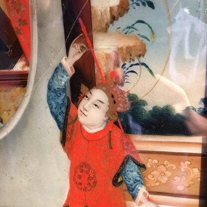 Chinese glass painting, youthful beauty, 19th century-28673