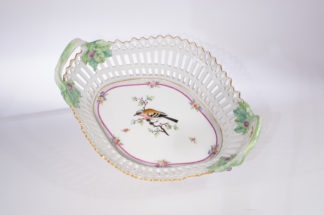 Berlin porcelain basket with bird, C. 1800-0