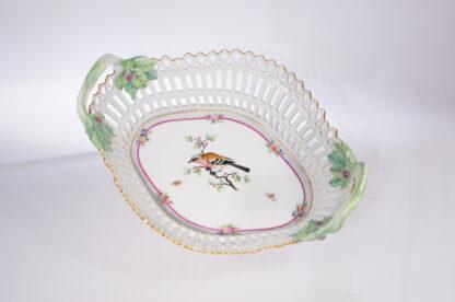 Berlin porcelain basket with bird, C. 1800-0