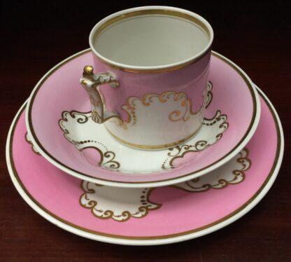 Flight Barr & Barr coffee can, saucer & a plate, c.1835-16292