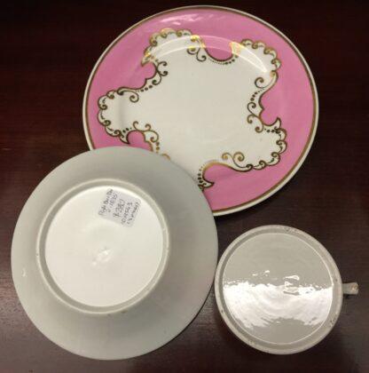 Flight Barr & Barr coffee can, saucer & a plate, c.1835-16293