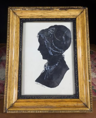 Portrait silhouette of a lady - Martha Jane C. 1840 -0