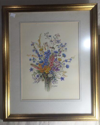 Original Daisy Wood watercolour, Australian Wildflowers, mid 20th c.-16434