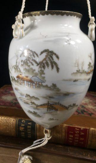 Japanese porcelain hanging vase, c.1900-16452