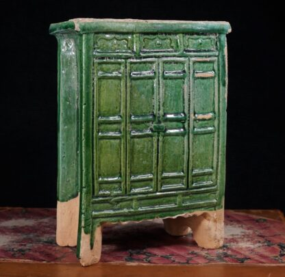 Chinese Ming Dynasty model cabinet, green glaze, 16th century AD -16490