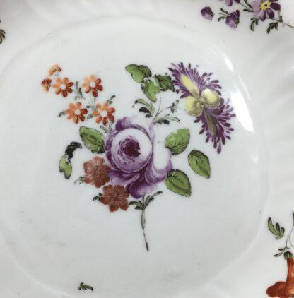 Vienna plate, flower sprays in Neubrandenstien moulding, c.1765-16824