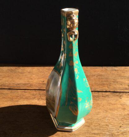 Chamberlain green ground scenic vase, Circa 1835. -17031