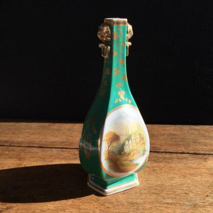 Chamberlain green ground scenic vase, Circa 1835. -17033
