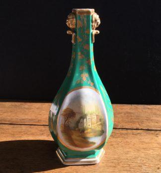 Chamberlain green ground scenic vase, Circa 1835. -0