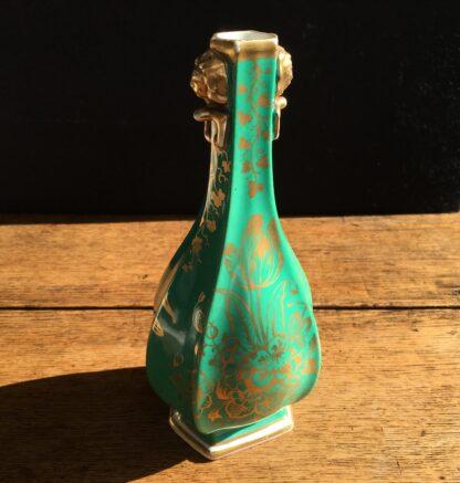 Chamberlain green ground scenic vase, Circa 1835. -17035