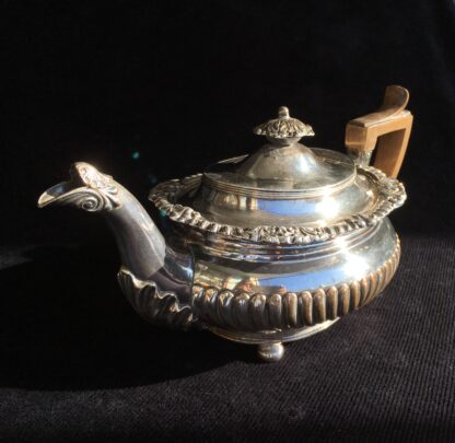 Old Sheffield Plate teapot c.1835, Local History Melbourne Show trophy 1929 for Golf Hill Hereford bulls-17062