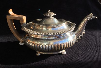 Old Sheffield Plate teapot c.1835, Local History Melbourne Show trophy 1929 for Golf Hill Hereford bulls-0