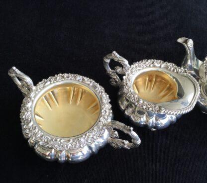 3 piece Old Sheffield Plate tea service, circa 1830-17094