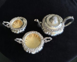 3 piece Old Sheffield Plate tea service, circa 1830-0