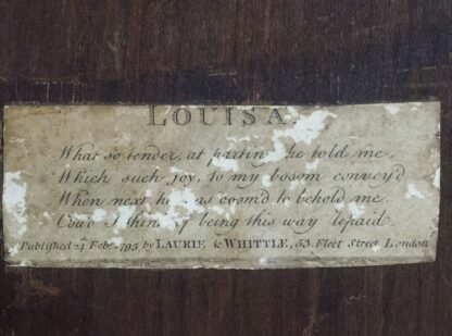 Print of 'Louisa' by Laurie & Whittle London, published 1795 in original frame-17101