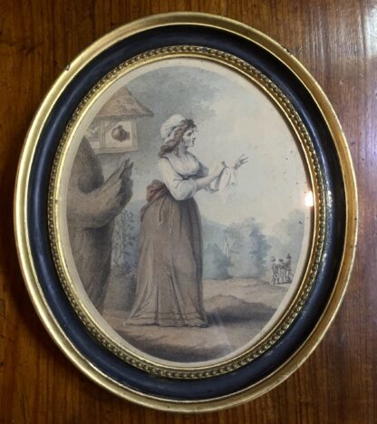 Print of 'Louisa' by Laurie & Whittle London, published 1795 in original frame-0