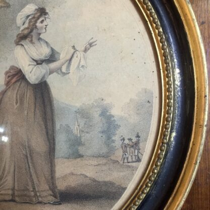 Print of 'Louisa' by Laurie & Whittle London, published 1795 in original frame-17106