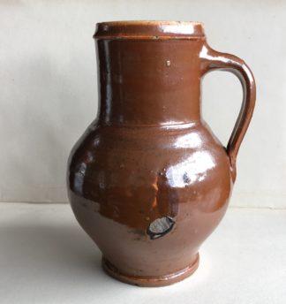 Stoneware mug with lustre brown glaze C 1800 -0