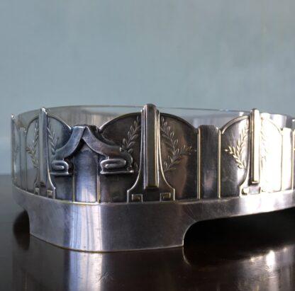 German silverplate serving dish, Art Deco design by Kayser, c.1910-17499