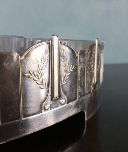 German silverplate serving dish, Art Deco design by Kayser, c.1910-17500