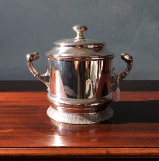 Electroplated American biscuit barrel, amazing handles, c. 1880-0