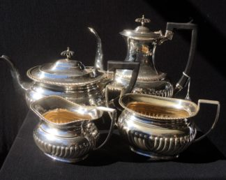 Four piece plated tea service by Henry Wilkinson, c. 1900 -0