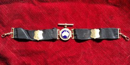 Australian 9ct gold 'Albert' pocket watch band, Willis & Sons, dated 1919 -0