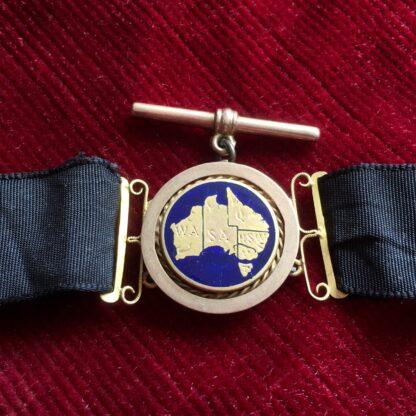 Australian 9ct gold 'Albert' pocket watch band, Willis & Sons, dated 1919 -17896