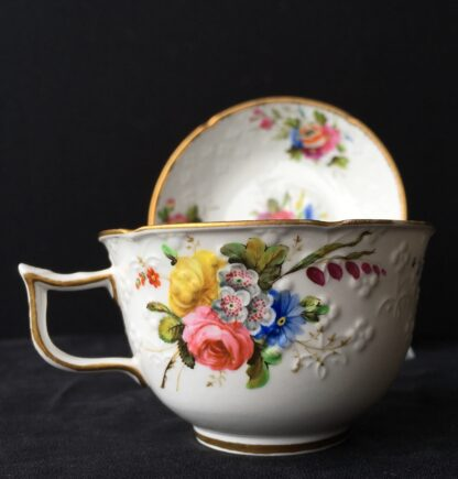 Spode cup & saucer, pattern 2527- flowers, c. 1825-17945