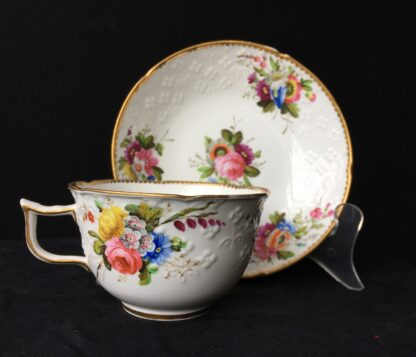 Spode cup & saucer, pattern 2527- flowers, c. 1825-0