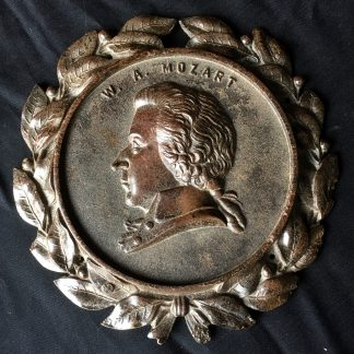 Mozart 'Bois Durci' plaque, French C. 1850-0