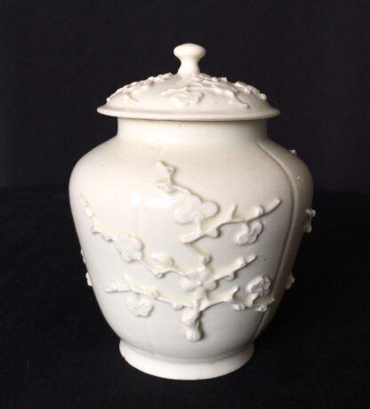 St Cloud jar with prunus sprigging, c. 1725-30-18205