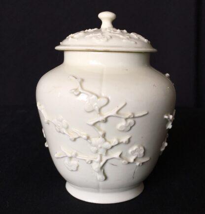 St Cloud jar with prunus sprigging, c. 1725-30-0