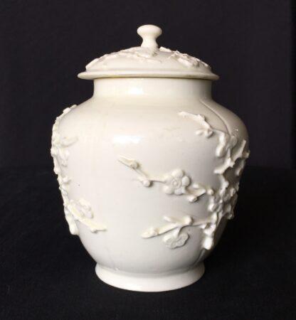 St Cloud jar with prunus sprigging, c. 1725-30-18207