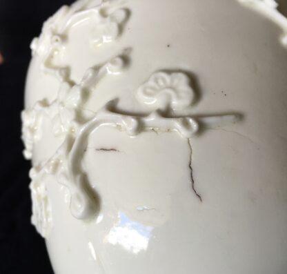 St Cloud jar with prunus sprigging, c. 1725-30-18210